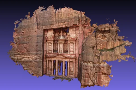 A 3D model of the Treasury in Petra (without even visiting!)