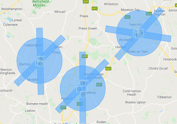 A mapof some uk flight restriction zones