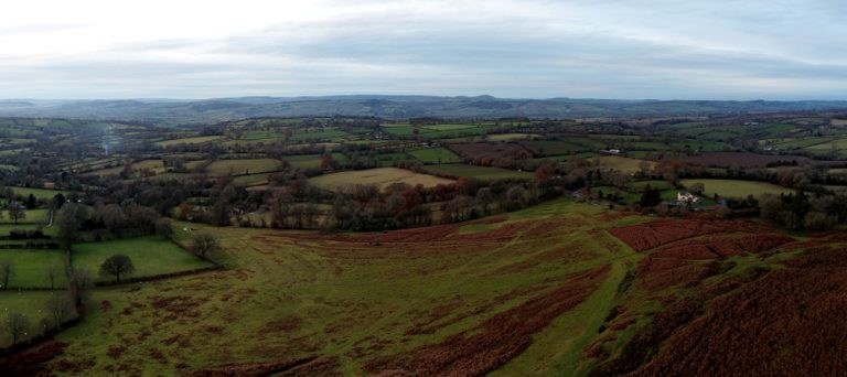 A view from Nordy Bank, Drone Topographic Survey, Aerial Imaging, Shropshire after a drone mapping afternoon
