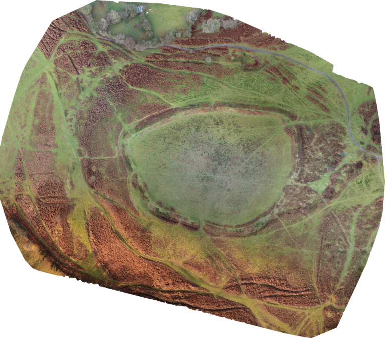 Drone mapping, ortho photo of Nordy Bank, Drone Topographic Survey, Aerial Imaging, Shropshire