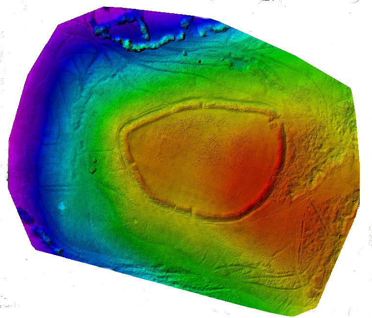 Drone map, a height map of Nordy Bank, Drone Topographic Survey, Aerial Imaging, Shropshire