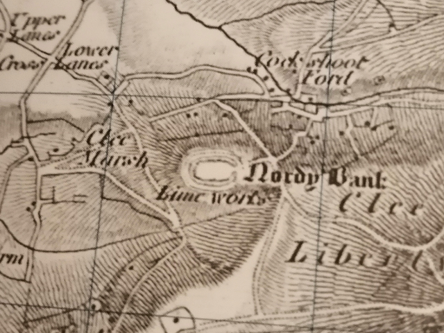 Nordy Bank from a Cassini Historical map from 1832-6, drone photography uk