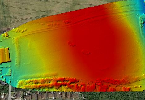 Digital Elevation map of a par 3 golf course