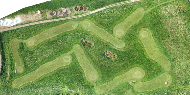 drone survey of a golf sport facility