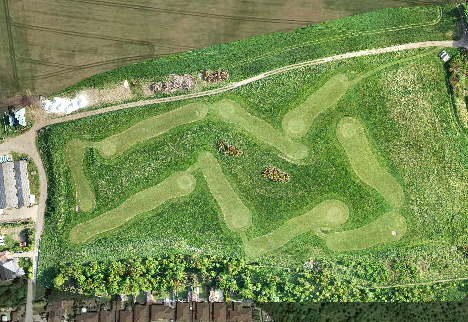 drone mapping a golf course