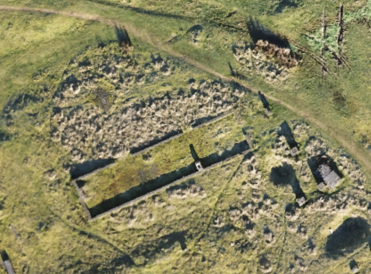 drone mapping of abandoned building in shropshire