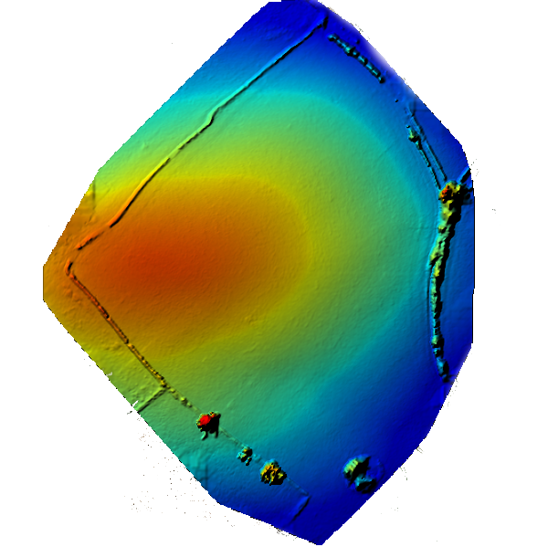 A digital elevation Model of a field from a drone