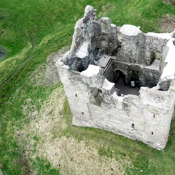 Hopton Castle – an aerial video.