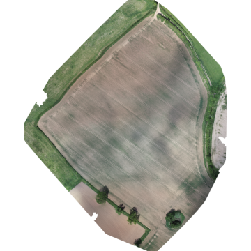 A quick multispectral drone survey of a field.