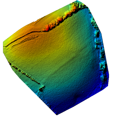 Digital Elevation Model of a field